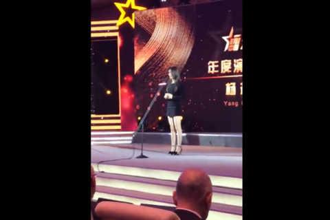 火箭少女101成员杨超越-获得2018影响中国-年度演艺人物
