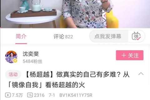 复旦教授沈奕斐解读杨超越的那期镜像自我的视频,押中了高考语文全国三卷的作文